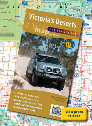 Victoria's Deserts 4WD Map Meridian